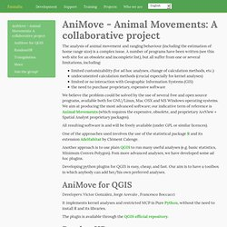 AniMove - Animal Movements: A collaborative project — Faunalia - free and open source GIS
