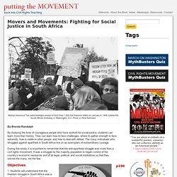 Movers and Movements: Fighting for Social Justice in South Africa