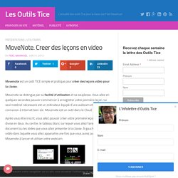 MoveNote. Creer des lecons en video