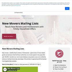 New Mover Mailing Lists & Sales Leads