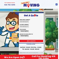 Movers & Moving Company Etobicoke