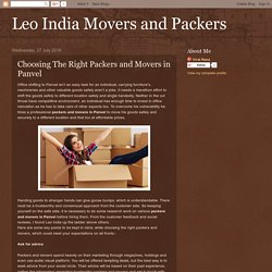 Choosing The Right Packers and Movers in Panvel