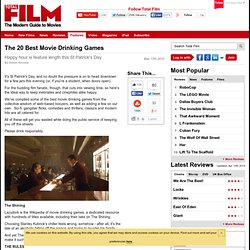 The 20 Best Movie Drinking Games