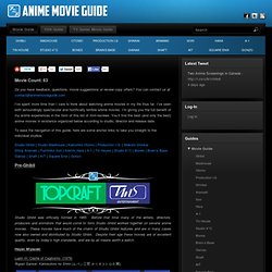 Anime Movie Guide