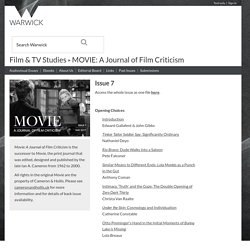 Movie: A Journal of Film Criticism