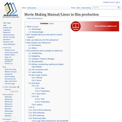 Movie Making Manual/Linux in film production