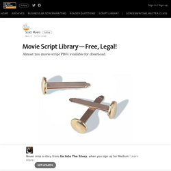 Movie Script Library — Free, Legal! – Go Into The Story