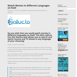 Watch Movies in Different Languages on Kodi