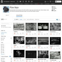 Film Noir : Free Movies : Free Download, Borrow and Streaming