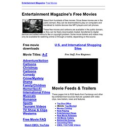 Free Movies from Entertainment Magazine