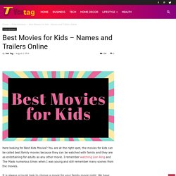 Best Movies for Kids - Names and Trailers Online - Veo Tag