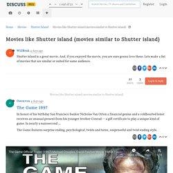Movies like Shutter island (movies similar to Shutter island)