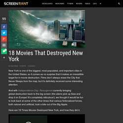 18 Movies That Destroyed New York