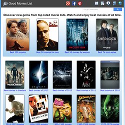Good Movies List - Best movies to watch from top rated movie lists
