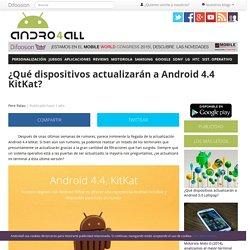 Moviles actualización android 4.4 kitkat