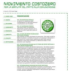 MOVIMENTO COSTOZERO - Movimento per la Gratuità del Diritto alla Comunicazione