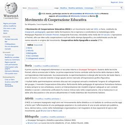 Movimento di Cooperazione Educativa