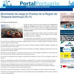 Movimiento de carga en Puertos de la Región de Tarapacá disminuye 29,1% - Portal Portuario
