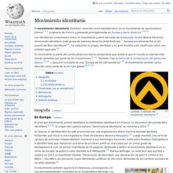 Movimiento identitario