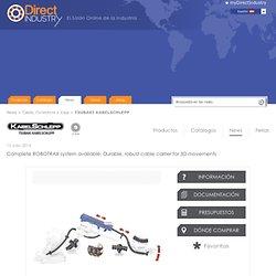 Termine el sistema de ROBOTRAX disponible: Portador durable, robusto del cable para los movimientos 3D - TSUBAKI KABELSCHLEPP - News y comunicados de prensa