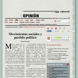 Movimientos sociales y partido político