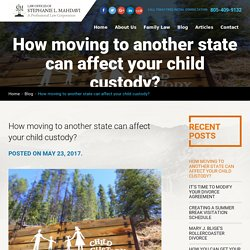 How moving to another state can affect your child custody?