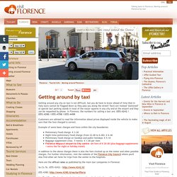 Moving around Florence by Taxi:Taxi Cabs in Florence