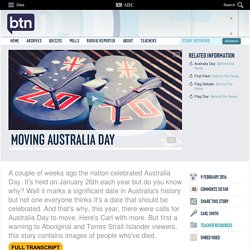 Moving Australia Day: 09/02/2016, Behind the News