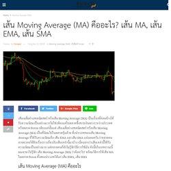เส้น Moving Average (MA) คืออะไร? เส้น MA, เส้น EMA, เส้น SMA
