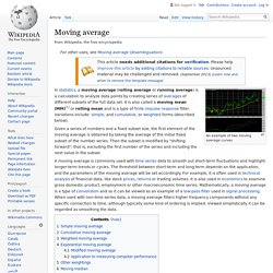 Moving average - Wikipedia