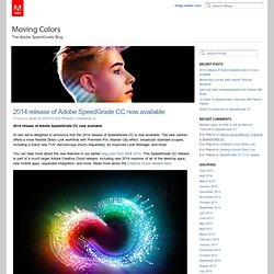 The Adobe SpeedGrade Blog