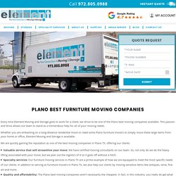 Plano Moving Companies, Best Furniture Moving Companies in Plano, TX