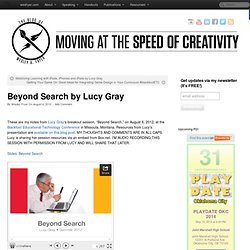 Beyond Search by Lucy Gray