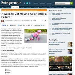 7 Ways to Get Moving Again After a Failure