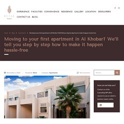 Moving to your first apartment in Al Khobar