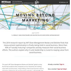 Moving Beyond Marketing