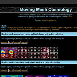Moving Mesh Cosmology