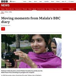 Moving moments from Malala's BBC diary