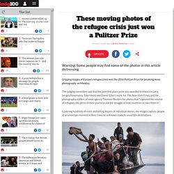 These moving photos of the refugee crisis just won a Pulitzer Prize