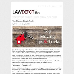 Top Moving Tips & Tricks - LawDepot Blog