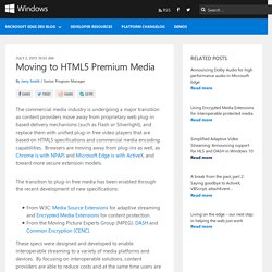 Moving to HTML5 Premium Media