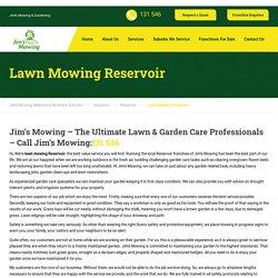 Professional Lawn Mowing Reservoir- Jim's Mowing Melbourne North