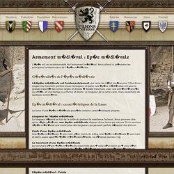 Moyen-âge : l'épée médiévale