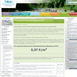 Prix moyen de l'eau en Martinique en 2015 — Observatoire de l'Eau de Martinique