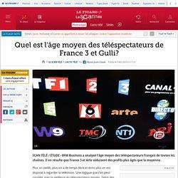 Quel est l'âge moyen des téléspectateurs de France 3 et Gulli?