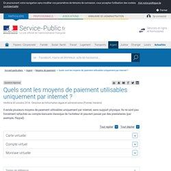 Moyens de paiement en ligne