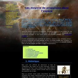 Les moyens de propulsion dans l'espace