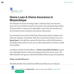 Home Loan & Home Insurance in Mozambique