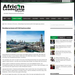 Mozambique may become world's third largest gas producer