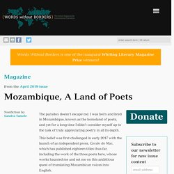 Mozambique, A Land of Poets - Words Without Borders